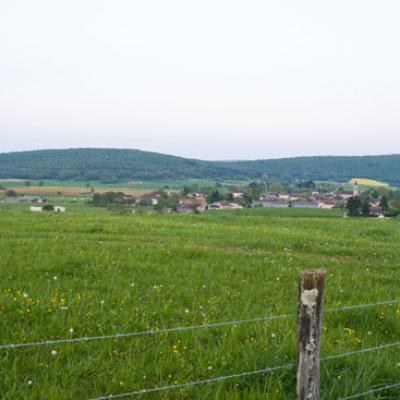 Vue du village de la maison blanche
