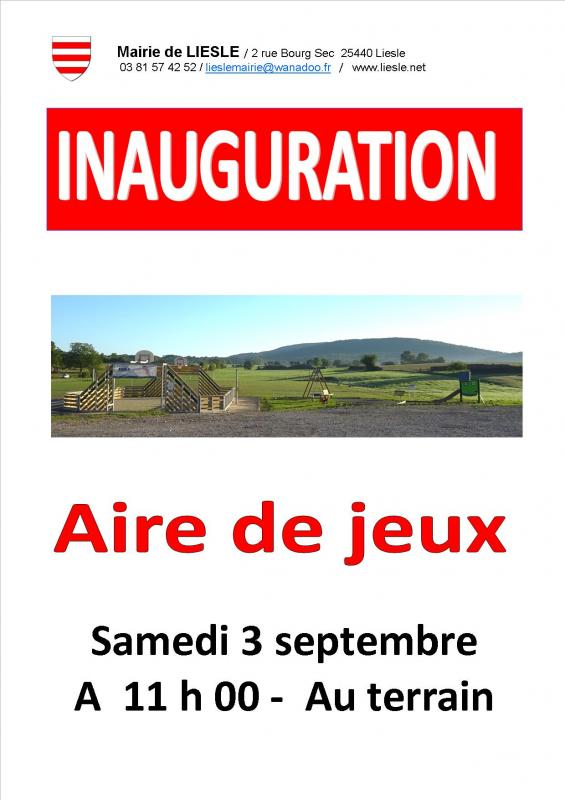 Affiche inauguration
