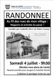 Affiche randonnee village