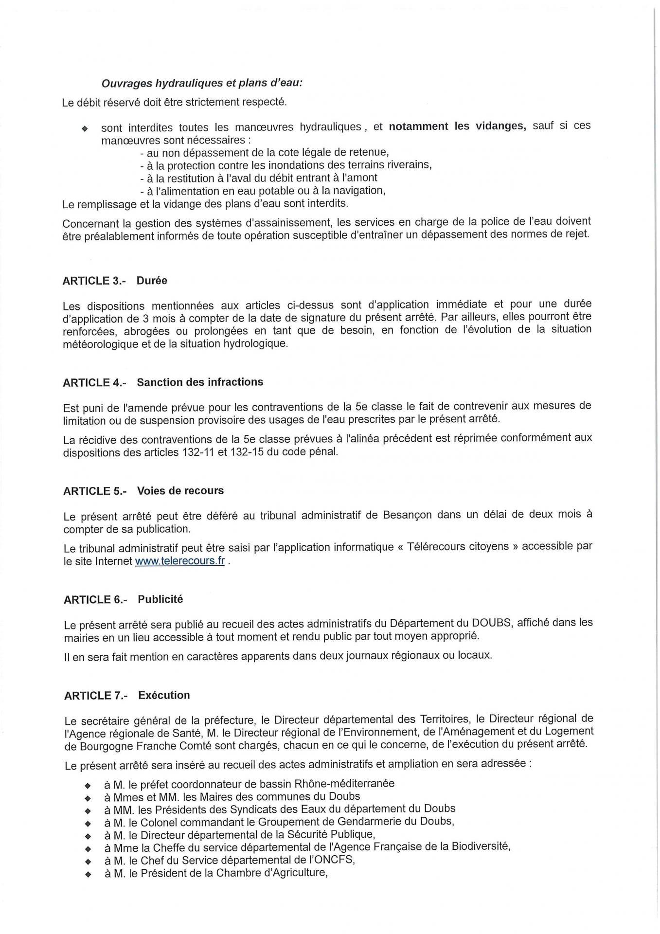 Arrete niveau 1 alerte secheresse page 3