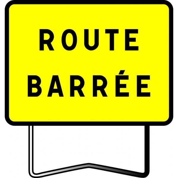 Panneau type kc1 route barree
