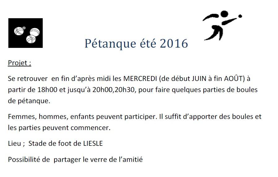 Petanque 2016
