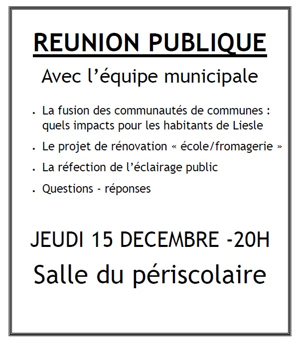 Reunion publique